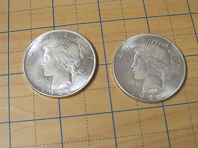 LOT 1 *1922 PLATED-SLIVER 1 Two Headed COIN  Win Every Flip! Novelty Item!