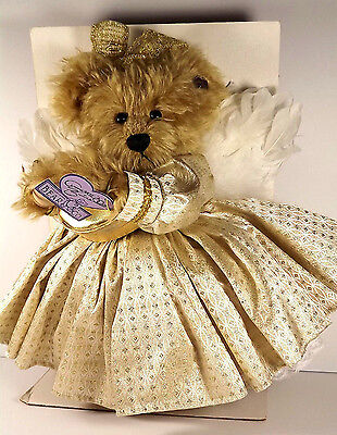 Annette Funicello Goldie 50th Golden Angel Bear Angel Pin Tags Mohair Jointed