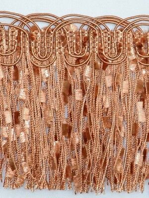 "4 1/4"" Elegant Confetti Tassel Fringe Trim Salmon Wholesale 50 Yards"