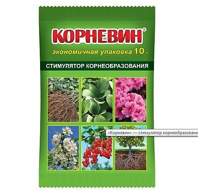 Growth of root system, butyric acid, 10 gr on 10 liters, Russia Корневин