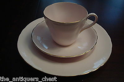 Royal Tuscan England  - TRIO cup & saucer & dessert plate, Pink and Gold[4-2c]