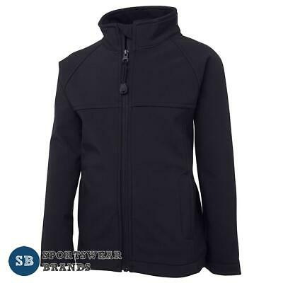 Kids Layer Soft Shell Jacket Boys Girls Navy Size 4 - 14 Casual Winter New 3LJ