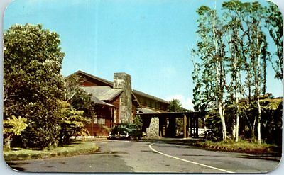 Hawaii National Park Postcard VOLCANO HOUSE Front View w/ 1960 Cancel