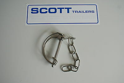Ifor Williams Linch Pin and Chain Used on HB403, HB506, HB511