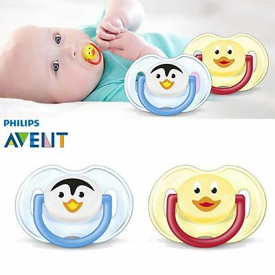 Philips Avent *animal*  Silicone Soother  Boy/girls  0-6M  2 In Pack Bpa Free