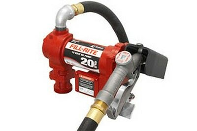 Fill-Rite FR4210G 12V DC High Flow Pump with Hose, Manual Nozzle