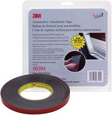 3M 6394 Automotive Attachment Tape, Gray, 1/2 In x 10 Yds, 90 mil