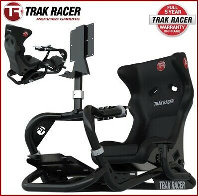 ~Black Racing Game Cockpit Chair F1 Race Pc Ps4 Xbox Seat Race Gaming Simulator