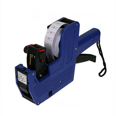 Blue MX-5500 8 Digits Price Tag Gun 500 White w/ Red lines labels 1 ink