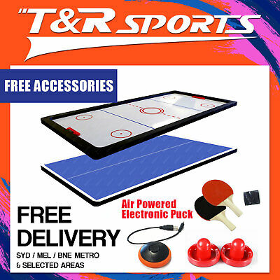 8FT Premium Air Hockey Top w/ Fan for Pool Billiard Dining Table Kids Adults
