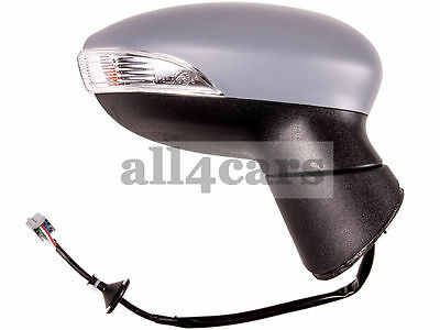 Ford Fiesta Mk7 08 - 12 Front Door Wing Mirror Electric Heated Right Driver O/s
