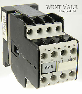 AEG SH8-62E-597-58 - 20a  Eight Pole Control Relay 110vac Coil Un-used