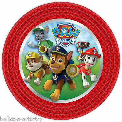 8 Paw Patrol Pup Pets Children's Birthday Party Large 22cm Round Paper Plates