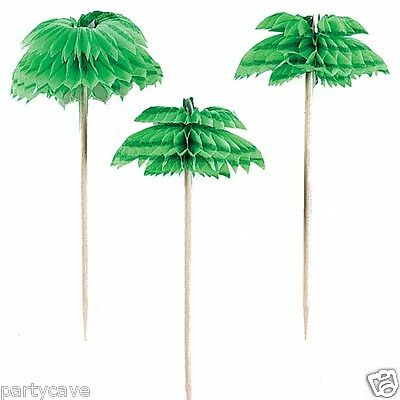 Hawaiian Luau Garden Beach Party Palm Tree Cocktail Sticks Picks Decoration