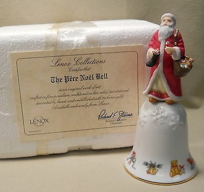 1996 Fine Porcelain Lenox Pere Noel Bell New in Packaging with Certificate