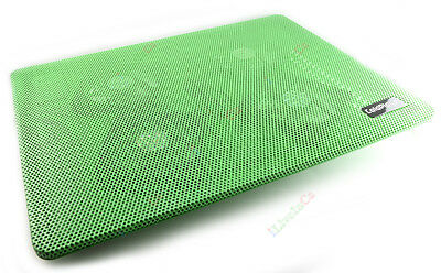 Green USB 4 Fan High Power Cooler Notebook Cooling Pad Laptop Mute 15 Inch IN