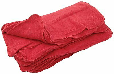 1250 NEW INDUSTRIAL SHOP RAGS / CLEANING TOWELS RED LARGE 14x14 GA TOWEL BRAND
