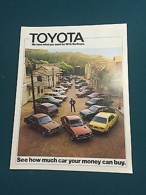 1975 Toyota Sales Brochure.  Fold Out.
