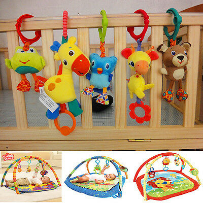 Baby Child Toddler Kid Flutter Soft Stuffed Play Mat Stroller Accessory Crib Toy