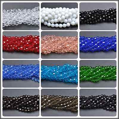 Top Quality Czech Glass Faceted Round Ball Spacer Loose Beads 6MM 8MM 10MM