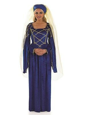 Royal Tudor Lady Costume Ladies Medieval Renaissance Fancy Dress