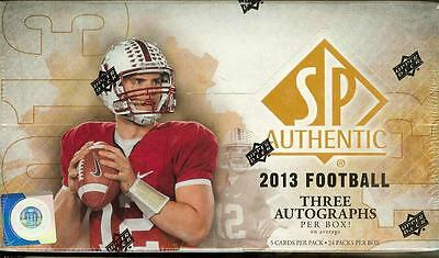 2013 Upper Deck Sp Authentic Football Factory Sealed Hobby Box