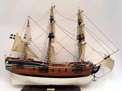 "GOTHENBURG 36"" Tall Ship Model - Handcrafted Wooden Model Ship NEW"