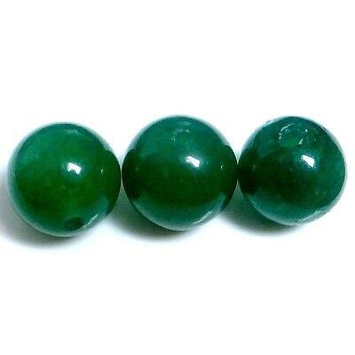 NATURAL CHALCEDONY BALL SHAPE (DRILLED) BEADS (3 pieces) 10 mm)