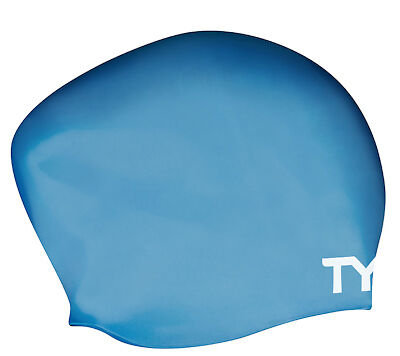 Tyr Long Hair Wrinkle Free Silicone Cap Blue Silicone