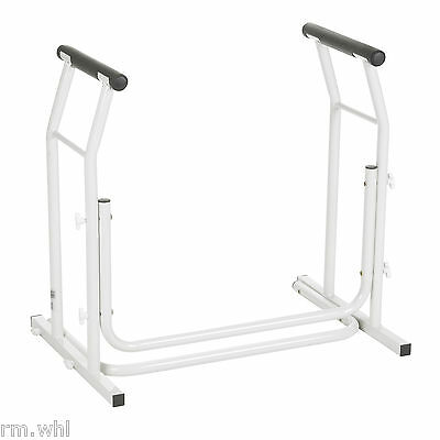 Toilet Safety Rail Bathroom Seat Frame Medical Handicap Support Bar Stand Alone