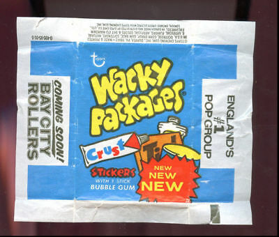 1974 Topps Wacky Packages Wax Pack Wrapper Series 15 15th Blue 0-490-85-01-5