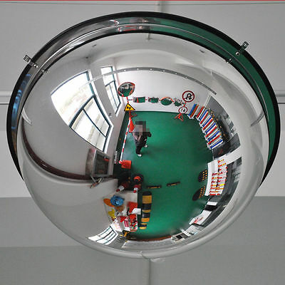 New 45cm Black Indoor Convex Security Safety Hemisphere Mirror Wide Angle