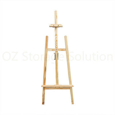 NEW Pine Wood Lyre Artist Painting Easel Wedding Shop Wooden Display Stand 150cm