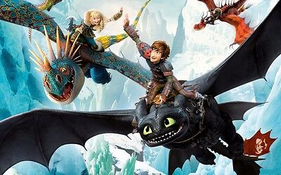 How to Train Your Dragon 1 2 Fabric Art Cloth Poster 20inch x 13inch Decor 15