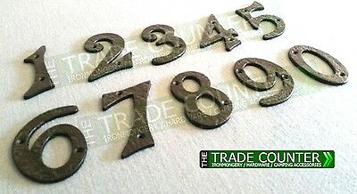 Black Iron Antique Metal Door Numbers With Screws 1,2,3,4,