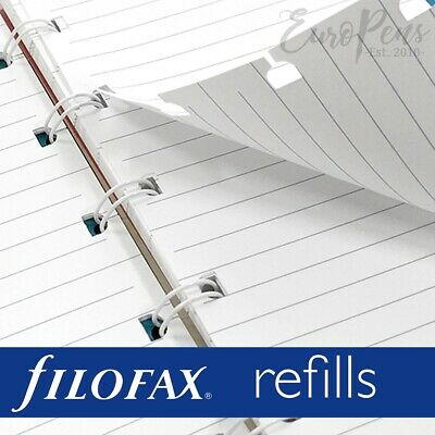 Filofax Notebook A5 or Pocket size Paper Refill Insert - Choose Paper Type