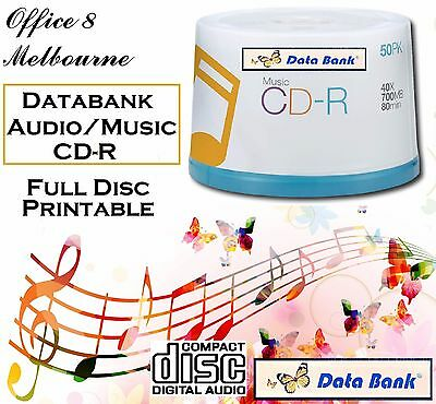 Blank MUSIC AUDIO CD Data Bank CD -R 40x White Inkjet Printable SPECIAL DESIGN