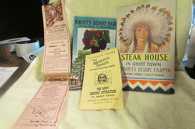 Rare Vintage Collection Of Four Knotts Berry Farm Items