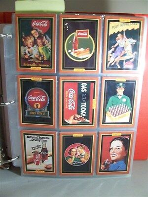 Immaculate Coca-Cola Collector Trading Cards and Pogs Complete Sets in Binder