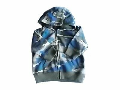 NWT Boy's Gymboree blue gray camo hoodie jacket ~ 12 18 24 months 2T 3T