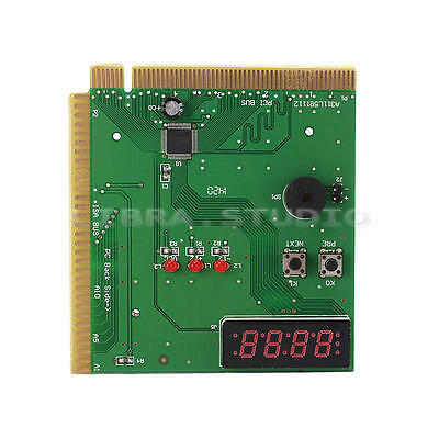4-Digit Motherboard Mainboard Tester Card PCI ISA PC Diagnostic Error Code Test