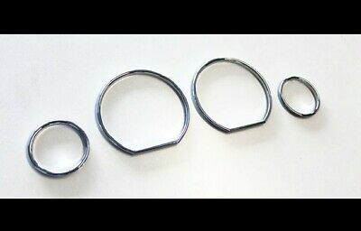 BMW E36 M M3 GT Chrome Speedometer Gauge Dial Rings Bezel Trim Speedo AC Tech-