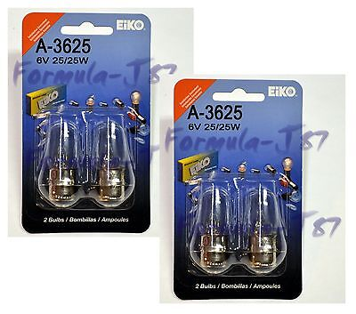 EIKO PX15d T-6 6V 25/25W A-3625 FOUR BULB HEAD LIGHT PLGU PLAY QUALITY REPLACE