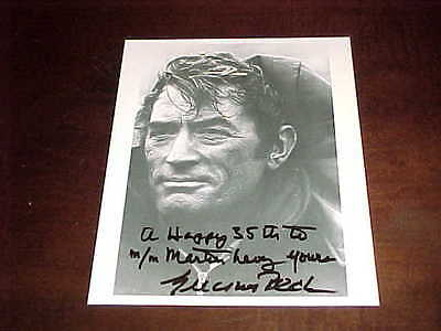 Actor Gregory Peck Autographed Signed Photo with inscription