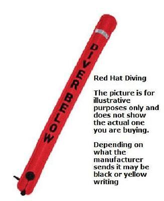 Red Hat Diving smb hose or oral inflation. 150cm x 20cm. Carrying pouch.