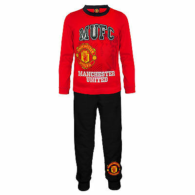 Manchester United FC Official Football Gift Boys Toddler Kids Pyjamas
