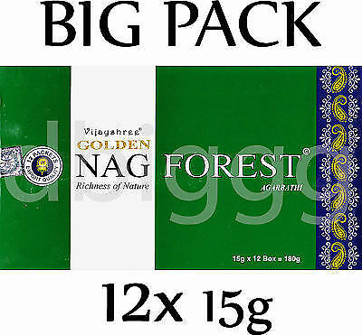 GOLDEN  - NAG  FOREST -  Incense  BIG PACK  180g  RÄUCHERSTÄBCHEN Agarbathi