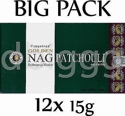 GOLDEN  - NAG  PATCHOULI -  Incense  BIG PACK  180g  RÄUCHERSTÄBCHEN Agarbathi