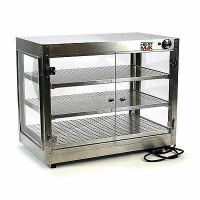 HeatMax Commercial 30 x 18 x 24 Countertop Food Pizza Pastry Warmer Wide Display