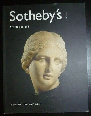 Auction Catalogue Sotheby's New York Antiquities December 9, 2003 Egypt Greek